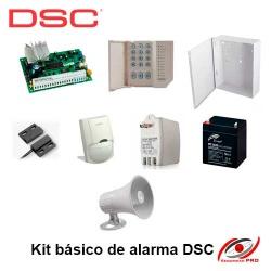 Kit básico de alarma DSC 585 1 sensor magnético 1 sensor movimiento